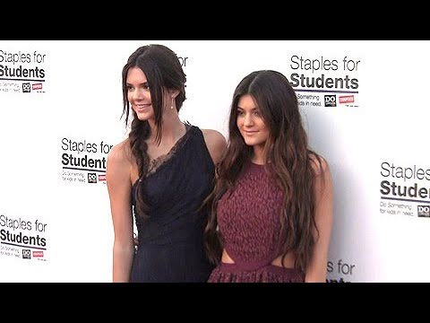 Kendall & Kylie Jenner Absorbing The Spotlight At Bella Thorne's Teen Choice Awards Party [2012]