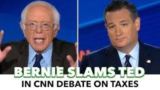 Bernie Destroys Ted Cruz In CNN Tax Debate