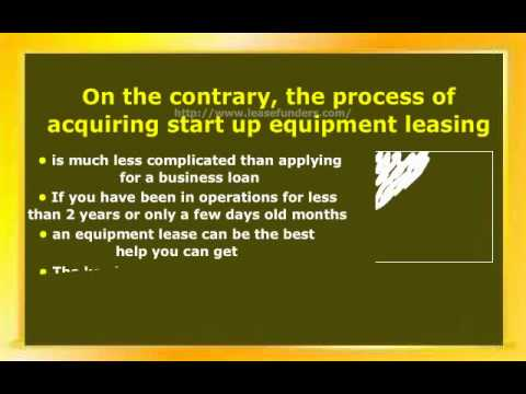 Equipment Leasing Tips For Startup And New Businesses