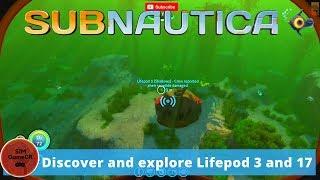 SubNautica Simulator #2 I Discover and explore Lifepod 3 and 17 I ...