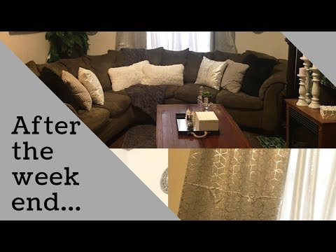 AFTER THE WEEKEND CLEAN WITH ME | LIVINGROOM EDITION | CHANGED CURTAINS | NEW AREA RUG