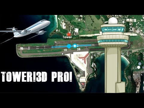 Tower!3D Pro First Look With Voice Recognition! | TIST- St  Thomas Airport  | Clear Weather
