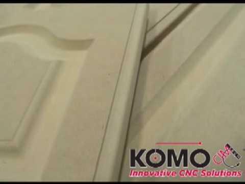 Komo Mach One GT CNC machining MDF Doors & Komo Mach One GT CNC machining MDF Doors - YouTube