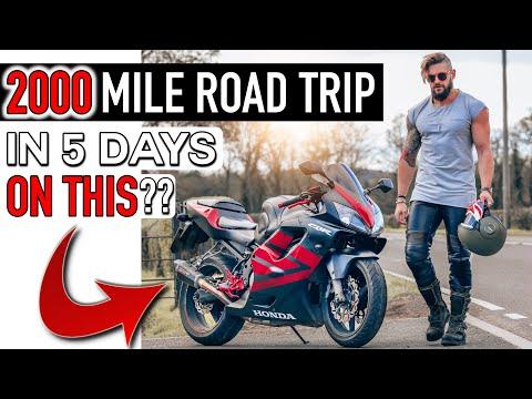 OVER 2000 MILES ON A SPORTS BIKE... IN 5 DAYS!   UK to Barcelona Grand Prix! (Custom CBR600)