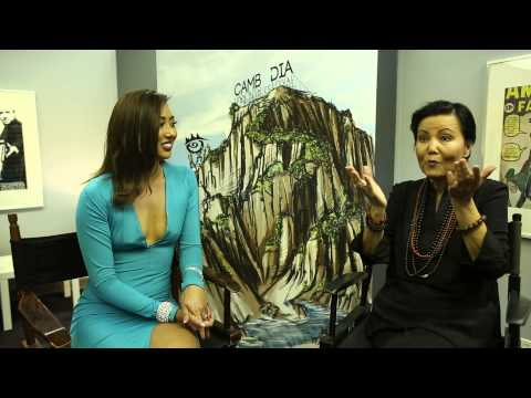 Kieu Chinh speaks on Cambodia Town Film Festival