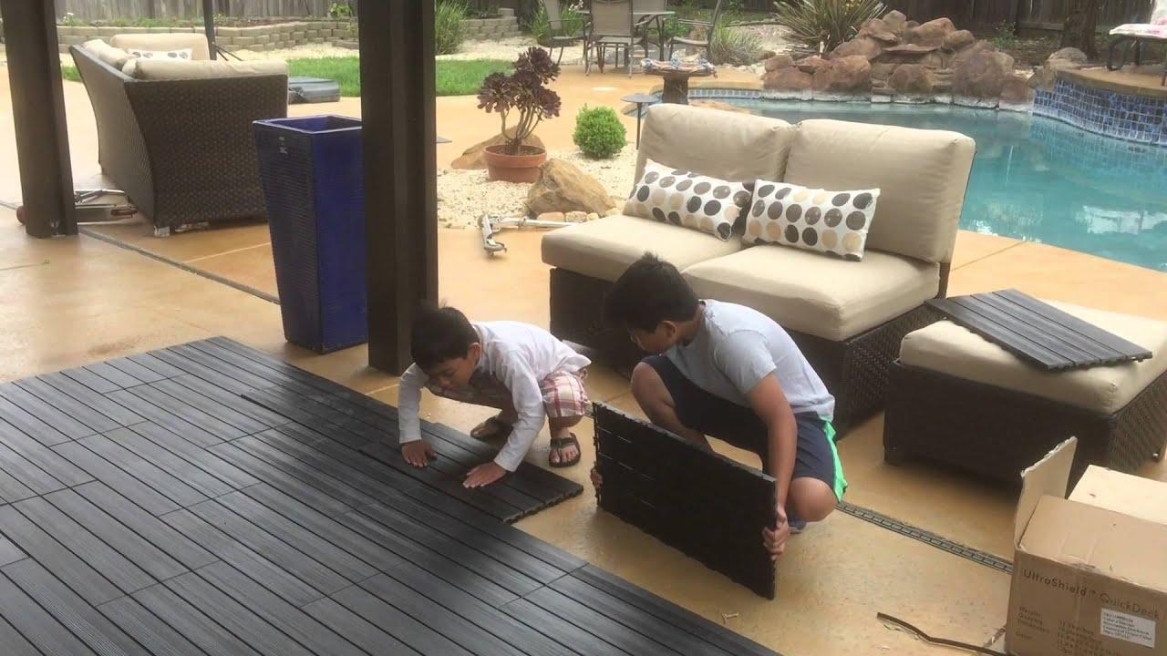 Newtechwood ultrashield youtube for New tile technology