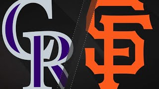 Giants blank Rox for 2nd straight game, 3-0: 9/15/18
