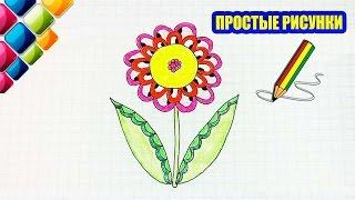 Простые рисунки #422 Рисуем красивый цветочек