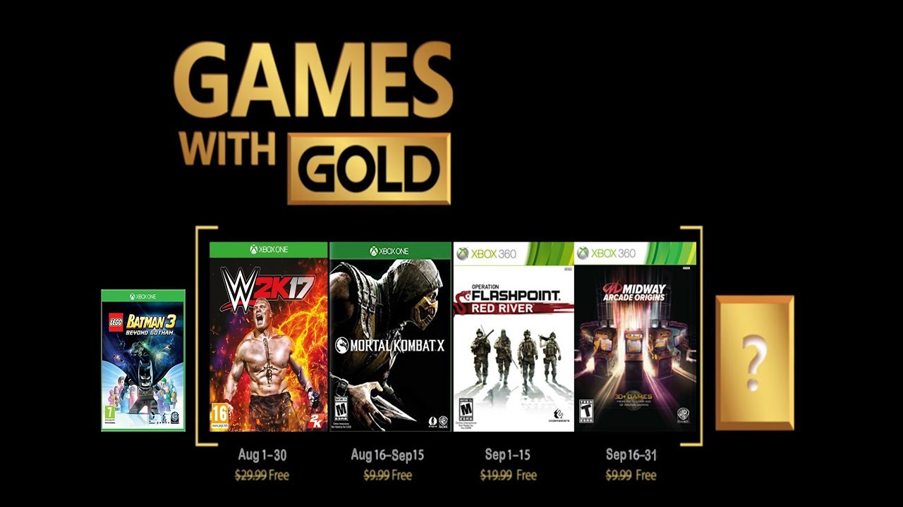 xbox one august free games with gold