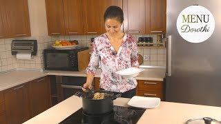 Postne łazanki z kapustą i grzybami to wspaniałe danie wigilijne. MENU Dorotki.