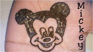 Mickey mouse mehandi tattoo  Cartoon character mehandi  Beautiful Mickey tattoo  Mickey henna tattoo