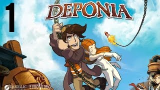Deponia part 1 (Game Movie) (Story Walkthrough) (No Commentary)
