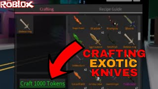 CRAFTING A SKELETON KING FOR TOKENS! (ROBLOX ASSASSIN GAMEPLAY AND CRAFTINGS)