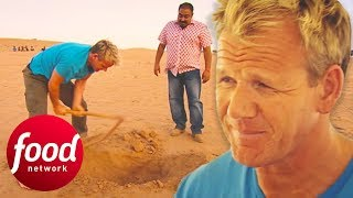 "Gordon Ramsay Has The Full ""Cooking In The Desert"" Experience In India 