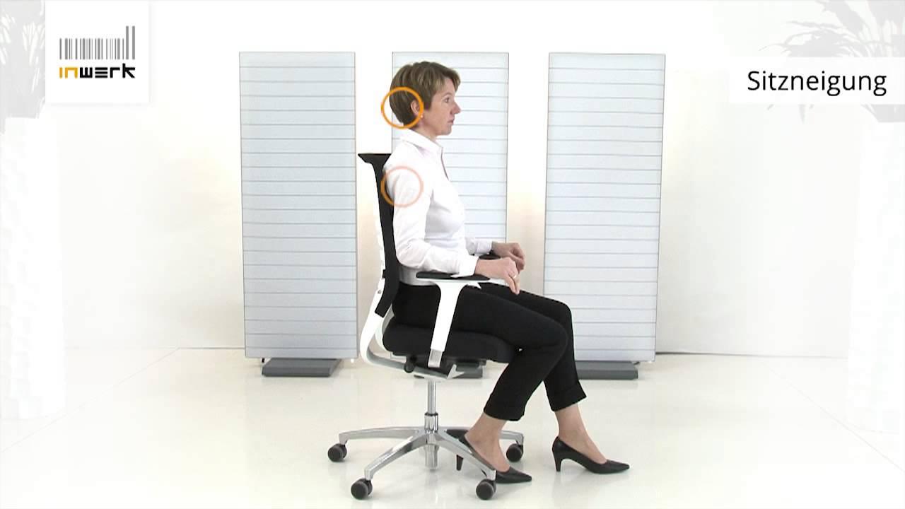Bürostuhl ergonomisch einstellen  Bürostuhl-Sitzneigung richtig einstellen - Inwerk Ergonomie ...