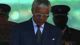 Nelson Mandela giving his Inauguration speech