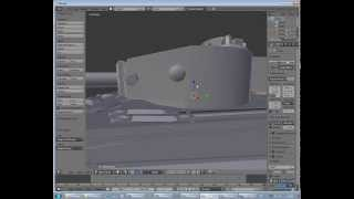 World of Tanks - Blender - Wot Tank Viewer - Tiger extracting