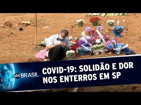 Um Terço Dos Sepultamentos, Na Cidade De São Paulo, é Relacionado à Covid-19 | SBT Brasil (26/05/20)