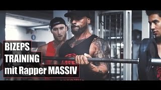 BIZEPS TRAINING mit Rapper MASSIV - Training // Karl-Ess.com