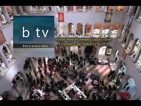 Best of Venice, Italy: inside T Fondaco dei Tedeschi by DFS luxury store.
