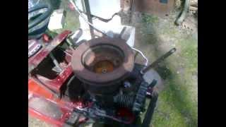 12hp Briggs & Stratton Steam Engine On Tractor Fram
