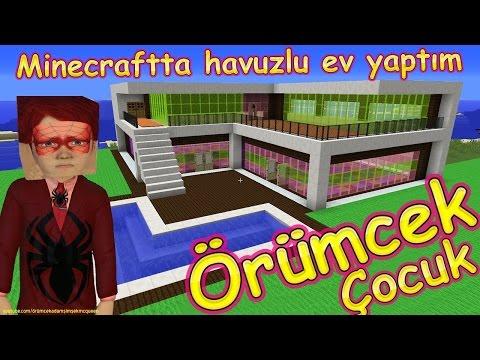 Örümcek Çocuk Minecraft'ta Havuzlu Ev Yaptı Çizgi Film Gibi Yeni Bölüm