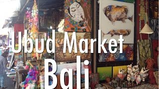 Bali Ubud Market - A Brief Walk Around This Popular Art Market In Bali, Indonesia.