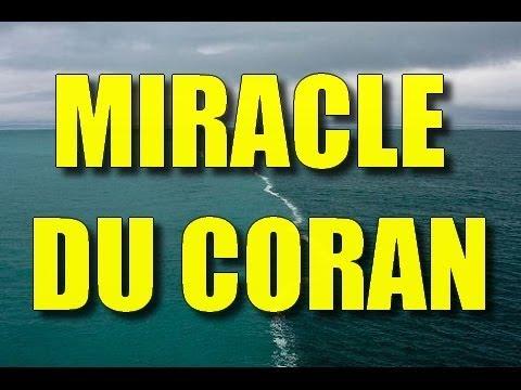MIRACLE DU CORAN MER SEPARE EN DEUX AVEC UNE BARRIERE INVISIBLE !?!? PREUVES ET DEBAT