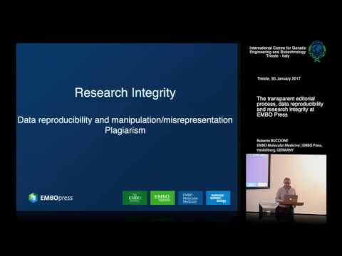 R. Buccione - The transparent editorial process, data reproducibility and research integrity...