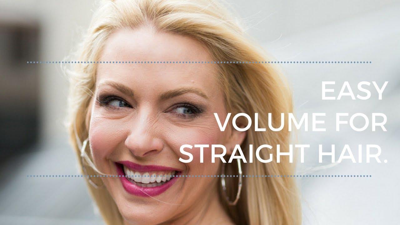 Easy Volume For Straight Hair