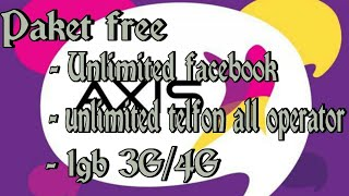 [Free] unlimited facebook, unlimited nelfon all sc & 1gb 3G/4G