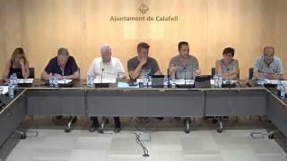 Ajuntament de Calafell: sessió plenària ordinària, 1 d'agost de 2016