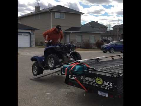 Quad loading on Jumping Jack Trailers