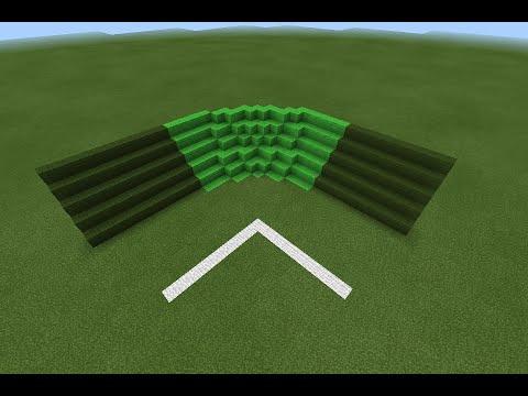[AZD]สอนทำสนามบอลให้โค้งหรือบล้อกให้โค้งใน Minecraft PE