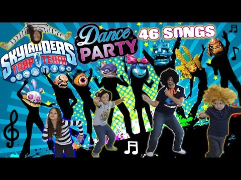 Thumbnail: Dad & Kids have a Dance Party to 46 Songs!! (Dancing 2 All Skylanders Trap Team Villains Music)