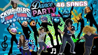 Dad & Kids have a Dance Party to 46 Songs!! (Dancing 2 All Skylanders Trap Team Villains Music)