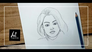 How to Draw Girl Face Step by Step | Drawing Tutorial for Beginners