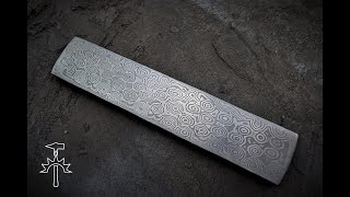 Making Raindrop Pattern Damascus Steel