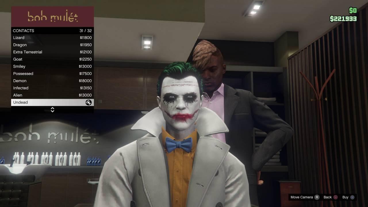 Gta  How To Get Joker Face Paint