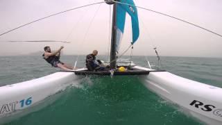 Catamaran sailing in the Palm Jumeira Atlantis Dubai RS CAT16