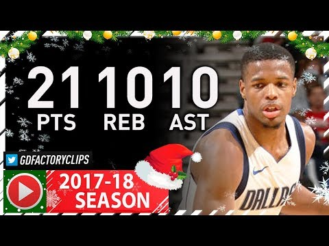 Dennis Smith Jr. 1st Triple-Double Full Highlights vs Pelicans (2017.12.29) - 21 Pts, 10 Reb, 10 Ast