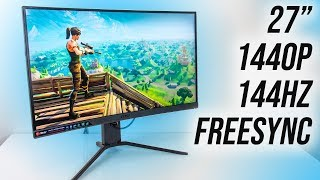 Asus 27 Inch 2K 144Hz Wqhd Freesync Gaming Monitor Ips