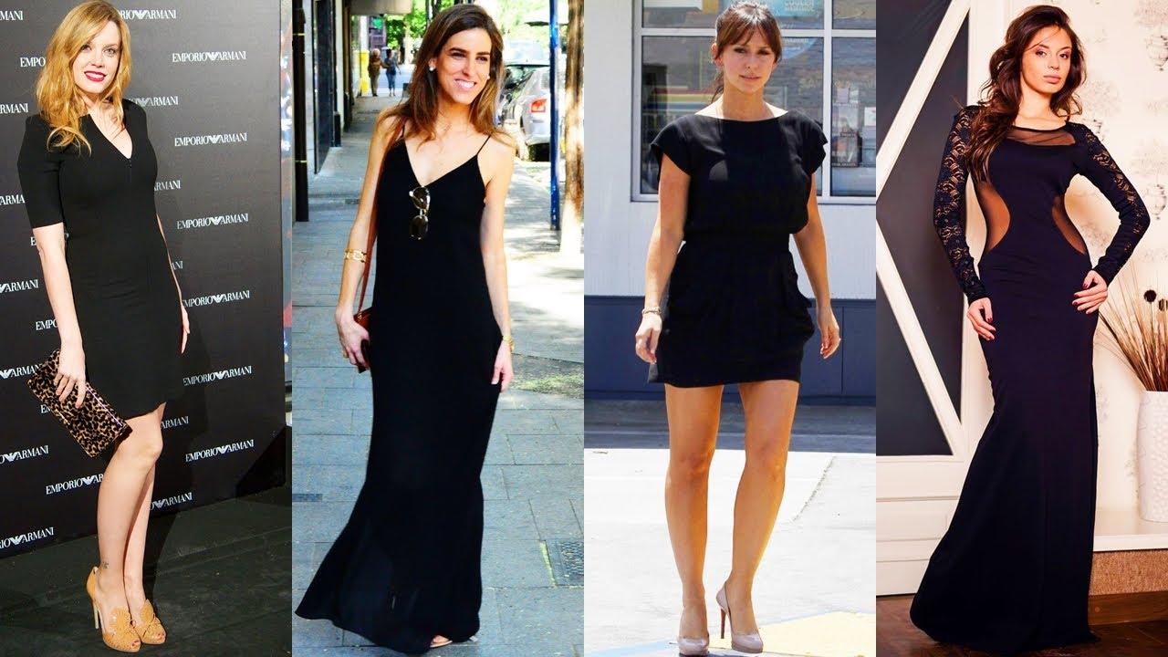 281afdb50 HERMOSOS Y ELEGANTES VESTIDOS NEGRO DE MODA. Moda para Chicas