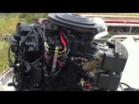 1987 Johnson 150 V6 VRO outboard Trim & Tilt - YouTube