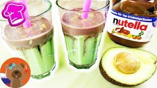 Вкусный смузи с авокадо и нутеллой простой рецепт