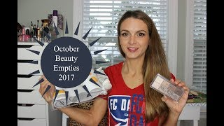 October Beauty and Makeup Empties 2017