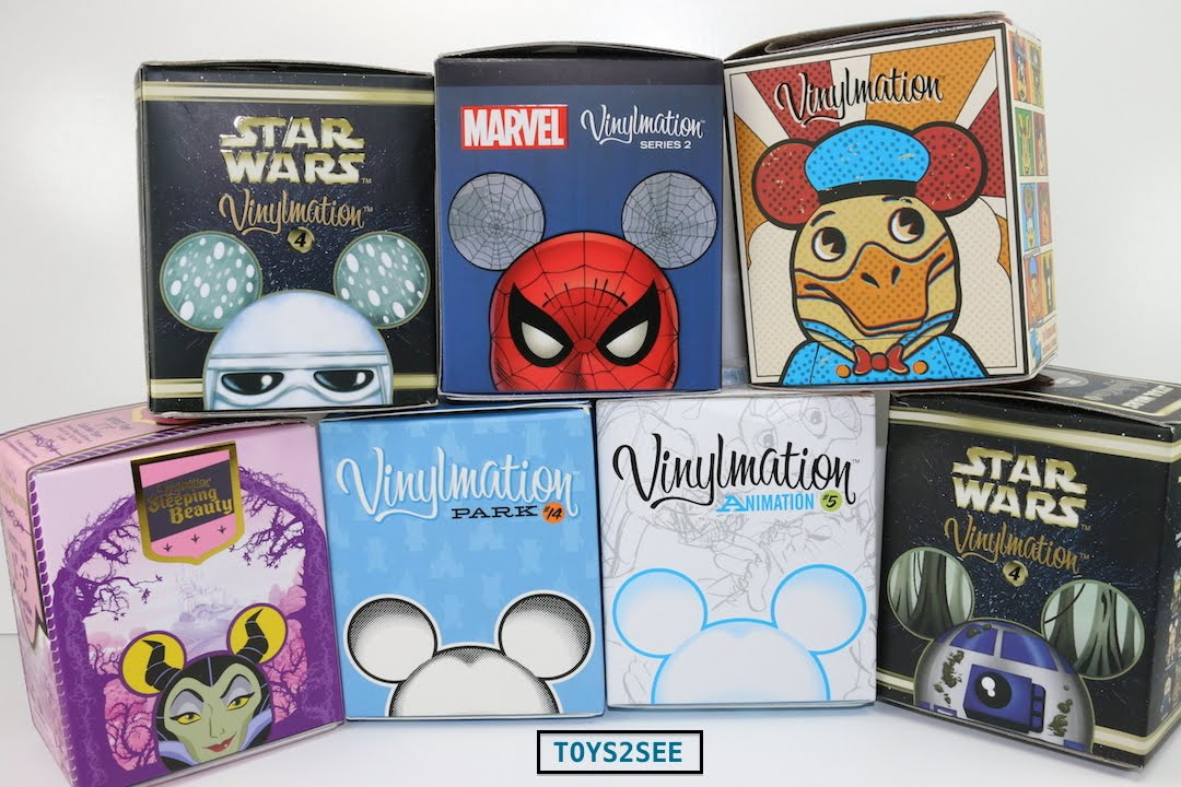 Disney Vinylmation Blind Box Opening Seven 7 Boxes Six 6