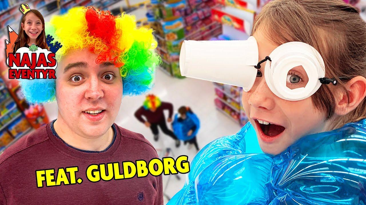 Næsten BLIND og fanget i en KÆMPE badebold!! I Najas fastelavnseventyr Feat. Guldborg