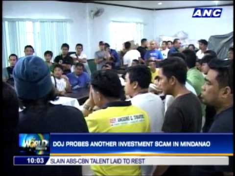 DOJ probes another investment scam in Mindanao