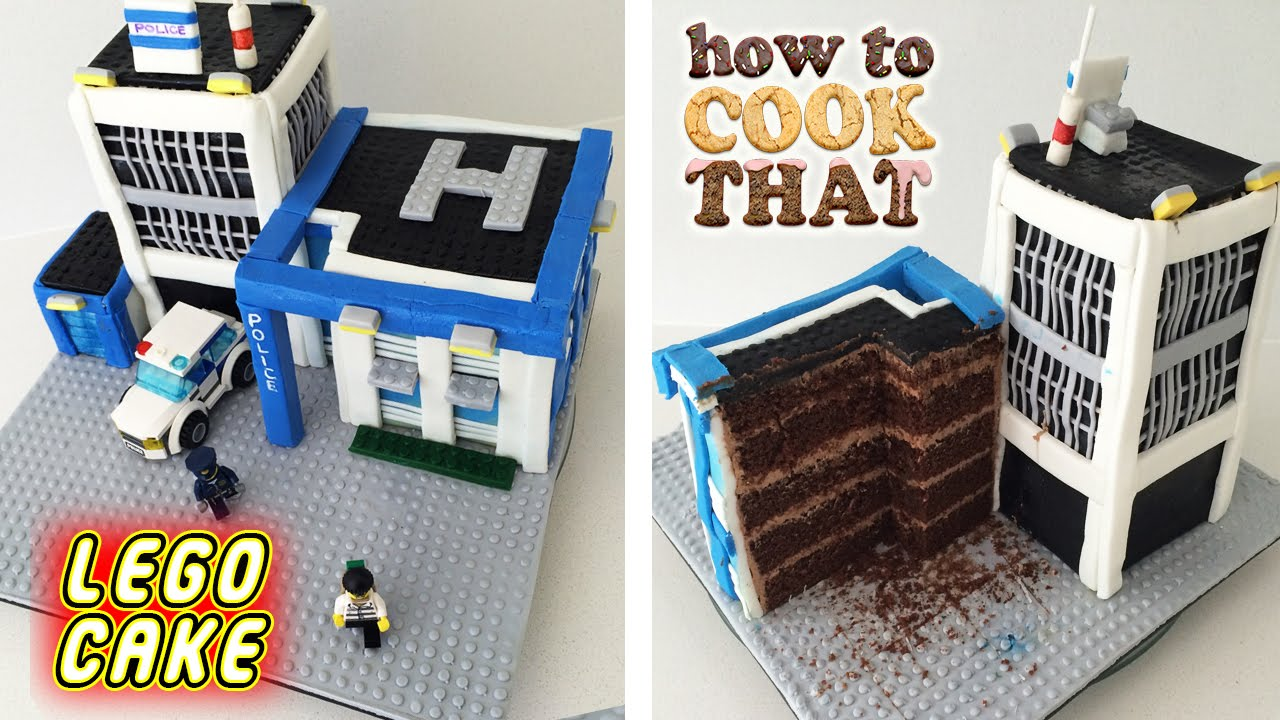Lego City Police Cake How To Cook That Ann Reardon Police Birthday Cakes Police Birthday Lego City Cakes